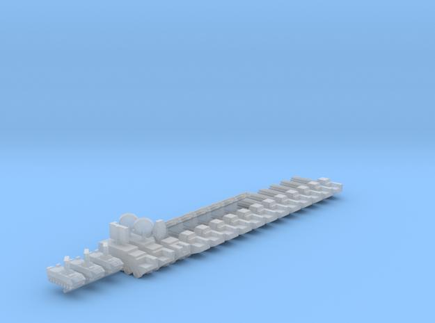 1/700 BM-30 Smerch Rocket Launcher Battery in Smooth Fine Detail Plastic