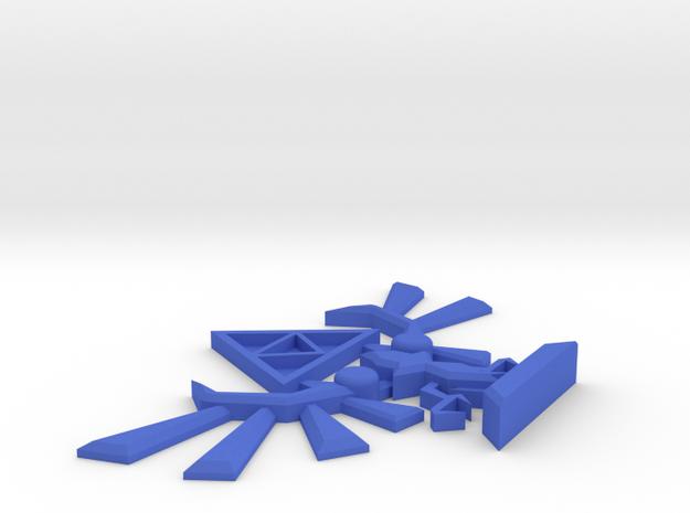 The Legend of Zelda Code of Arms Display Piece in Blue Processed Versatile Plastic