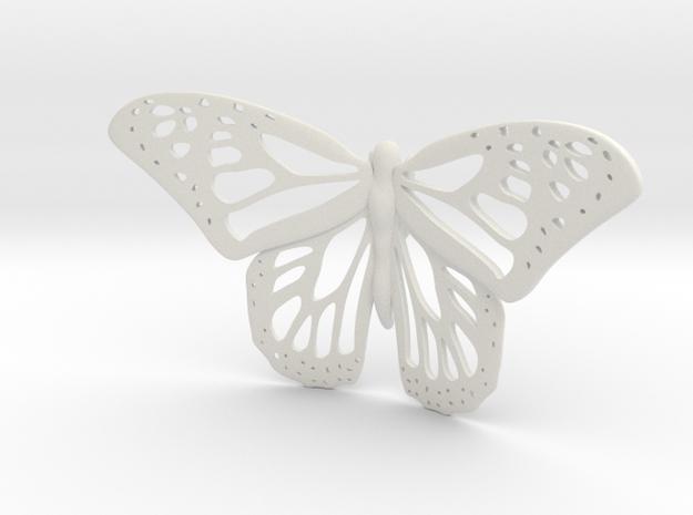 Monarch Statue in White Natural Versatile Plastic