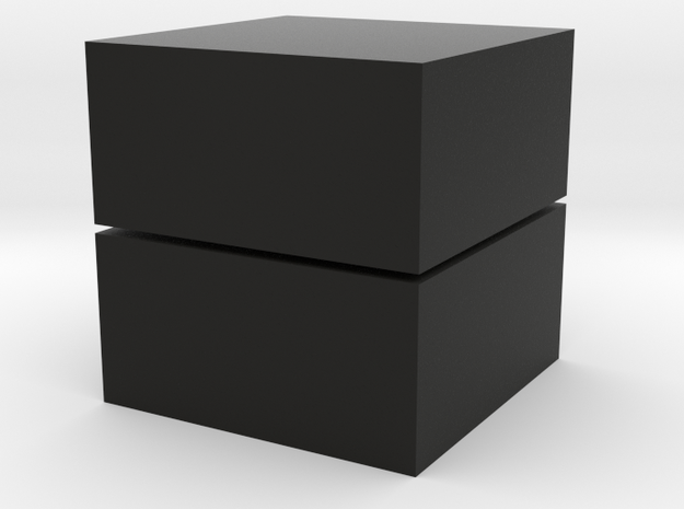 Cubic 1x1x2 4cm in Black Strong & Flexible