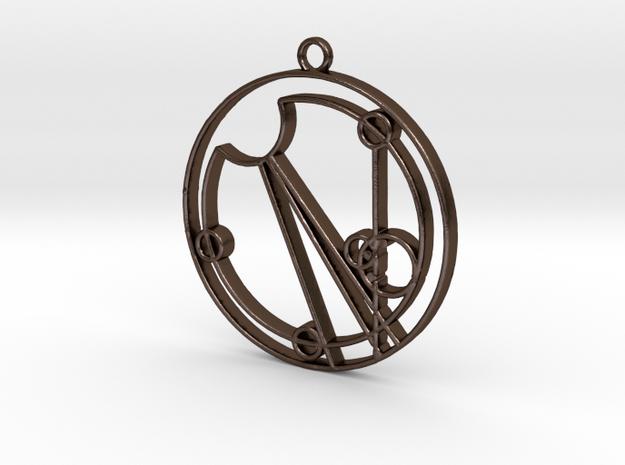 Eloise - Necklace in Polished Bronze Steel