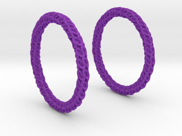 Coral 2 Hoop Earrings 40mm in Purple Processed Versatile Plastic