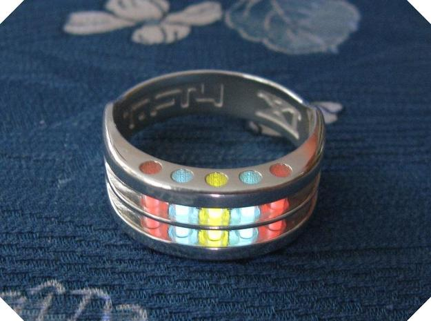 US14 Ring XI: Tritium in Polished Silver