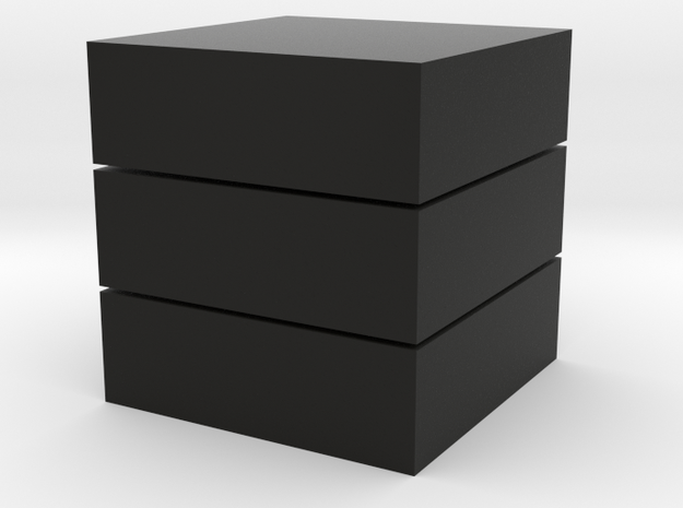 Cubic 1x1x3 2cm in Black Strong & Flexible