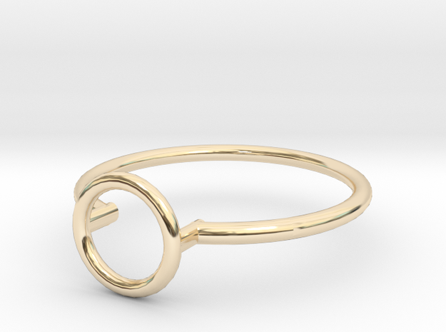 Open Circle Ring Sz. 5 in 14K Yellow Gold