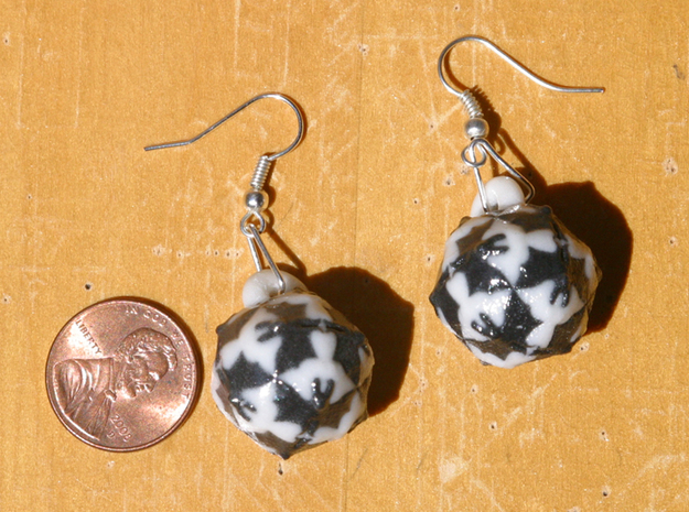 Escher Angels And Devils Earrings (Simple) 3d printed Bails not included.