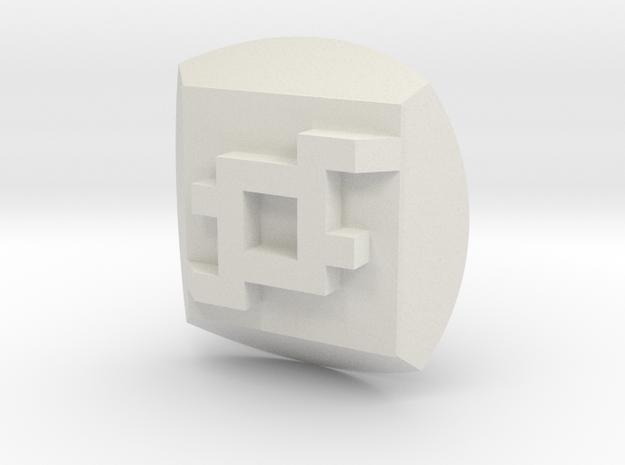 Bionicle - Nuva Symbol - Earth in White Natural Versatile Plastic