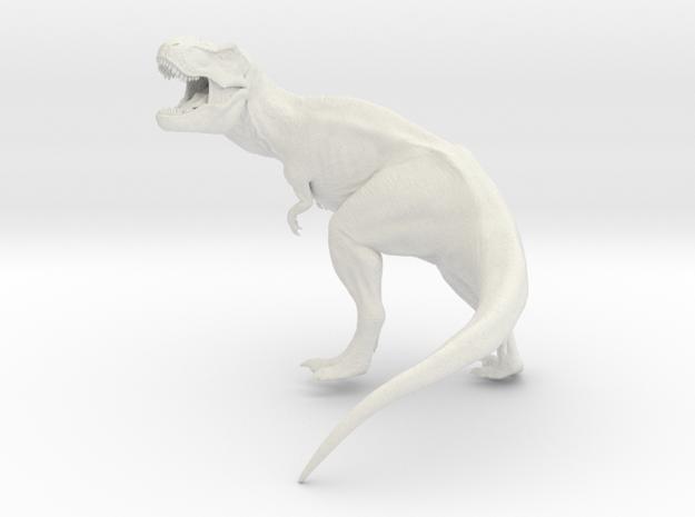 T Rex Roaring 16 cm long.   in White Natural Versatile Plastic