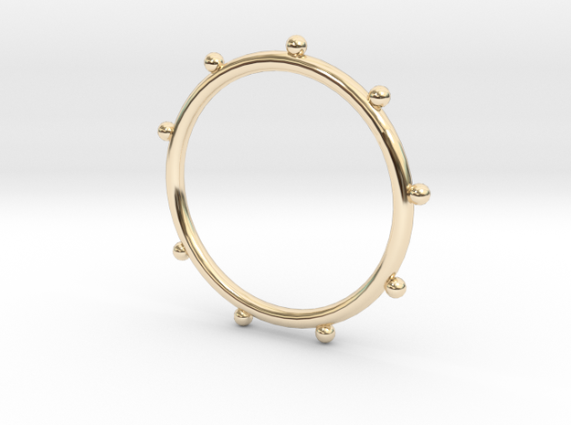 Ball Ring - Sz. 8 in 14K Yellow Gold