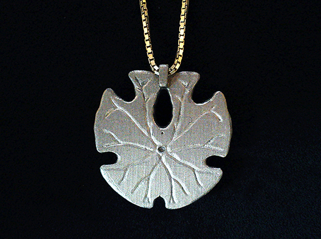 Sand Dollar Pendant in Smooth Fine Detail Plastic
