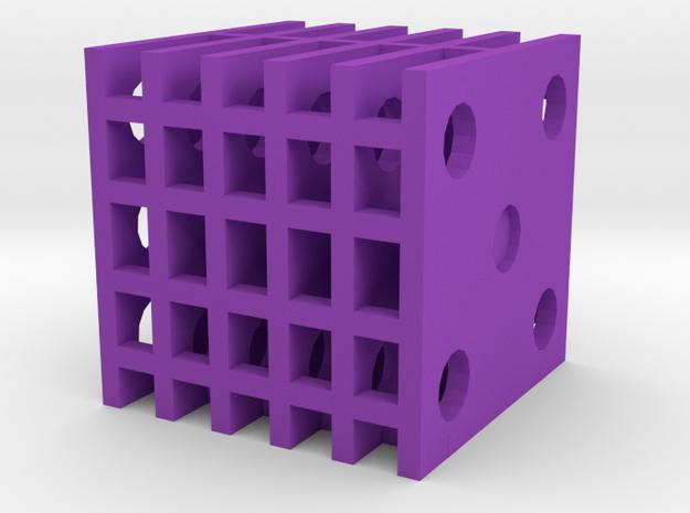 Dice14 in Purple Processed Versatile Plastic