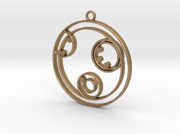 Kelly - Necklace in Matte Gold Steel