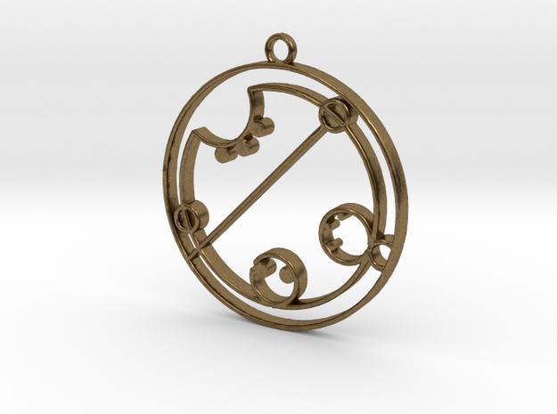 Claire / Klaire - Necklace in Natural Bronze