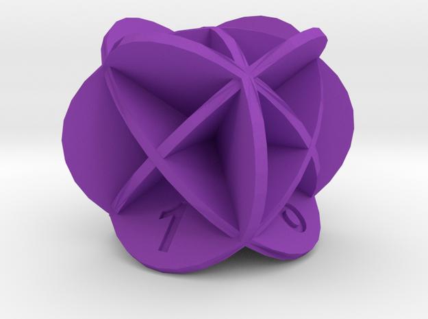 Dice19 in Purple Processed Versatile Plastic