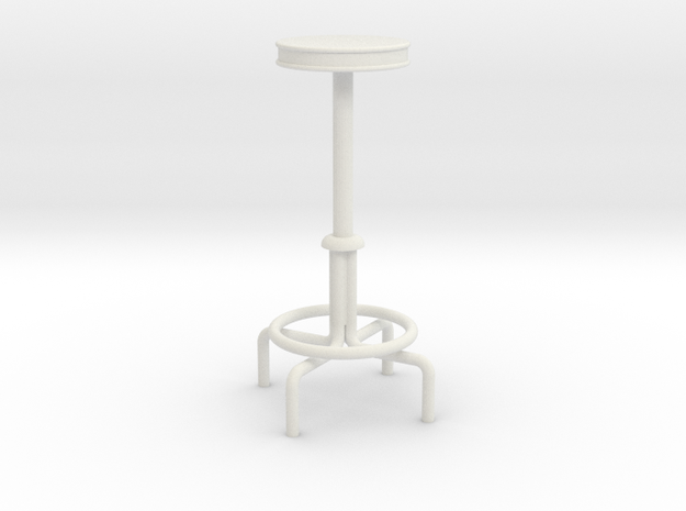 "1:24 Drafting Stool 42"" Tall in White Strong & Flexible"