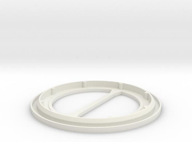 CJ7 Fuel Evaporation Canister Bottom in White Natural Versatile Plastic