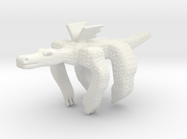 Dragonhugs in White Natural Versatile Plastic