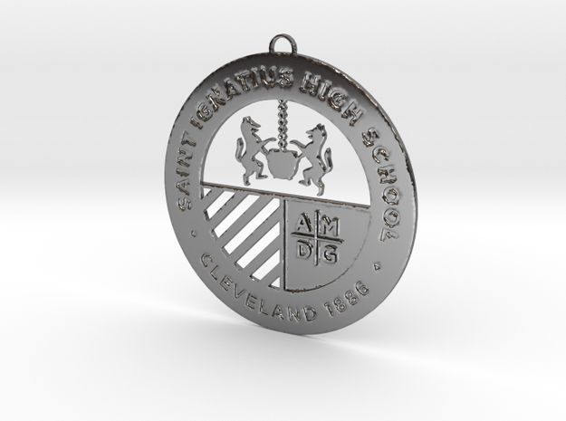 Saint Ignatius Logo Ornament 2014 in Premium Silver