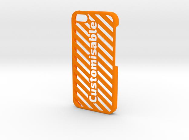 iPhone 5 Case - Customizable in Orange Processed Versatile Plastic