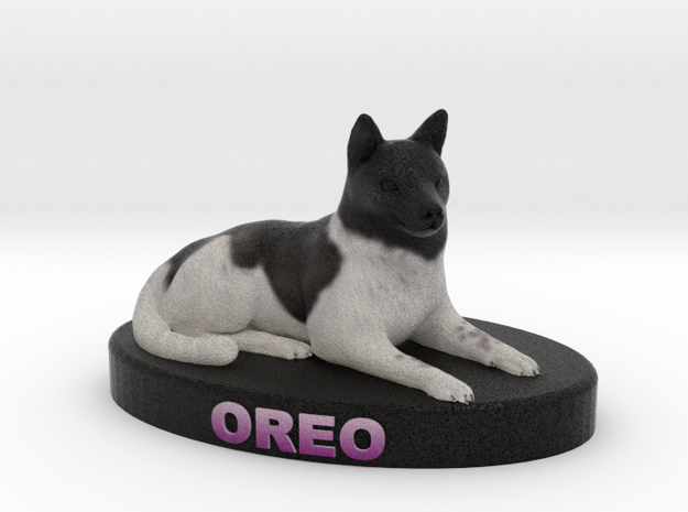 Custom Dog Figurine - Oreo 3d printed