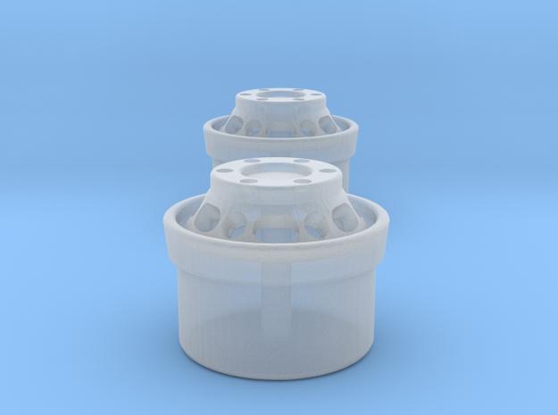 Langloch Felge 1 Paar in Smooth Fine Detail Plastic