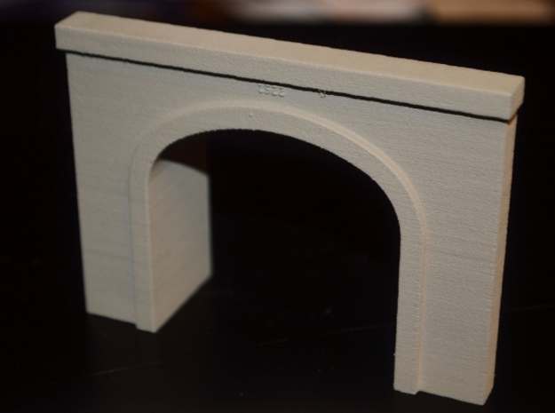 N-Scale UP Columbia River Portal in White Natural Versatile Plastic