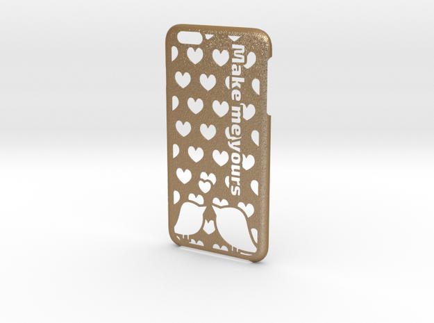 iPhone 6 Plus Case - Customizable in Matte Gold Steel