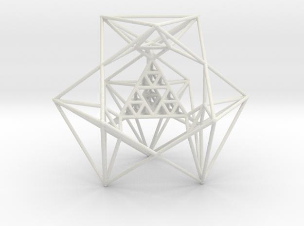 Sierpinski Tetrahedron and its Inversion in White Natural Versatile Plastic