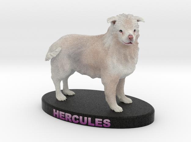 Custom Dog Figurine - Hercules in Full Color Sandstone