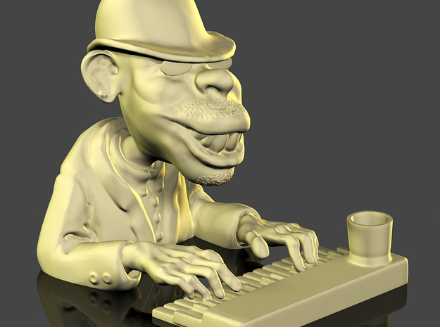 The Piano Man in Natural Sandstone