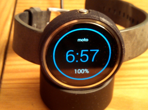 Moto 360 Bumper - Short, Gen 1 in Black Natural Versatile Plastic