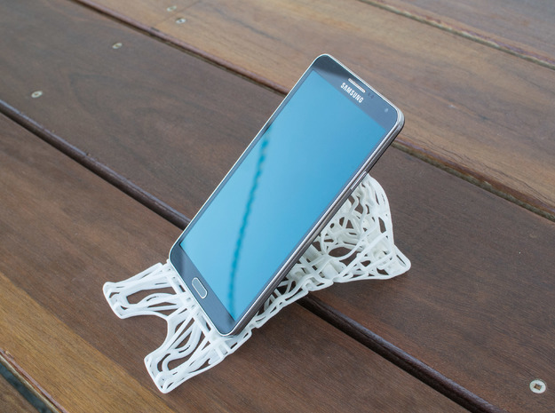 Universal Phone Tablet Stand in White Natural Versatile Plastic
