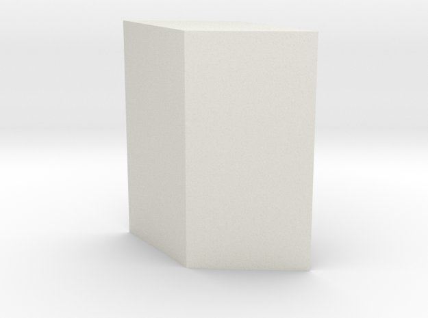 Orthorhombic prism in White Natural Versatile Plastic