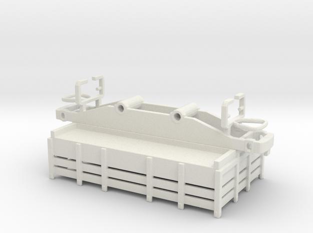 Goods car - carro merci H0e / H0n30 in White Natural Versatile Plastic