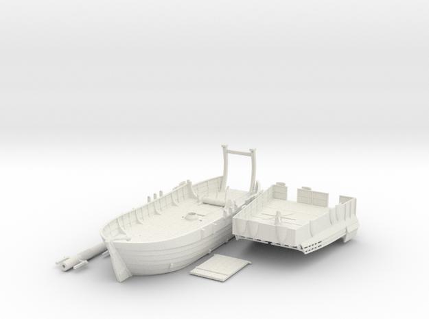 Medieval Landing Ship in White Natural Versatile Plastic