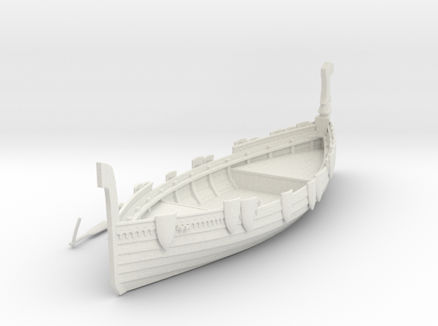 Russian Warship V2 in White Natural Versatile Plastic
