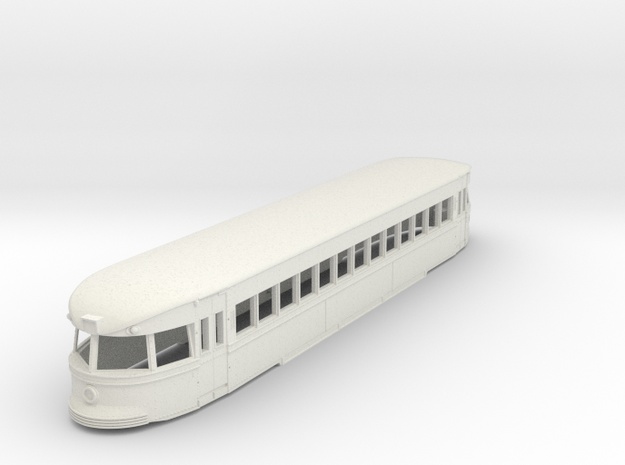 G Gauge 1:29 Brill Bullet Trolley Body Shell in White Natural Versatile Plastic
