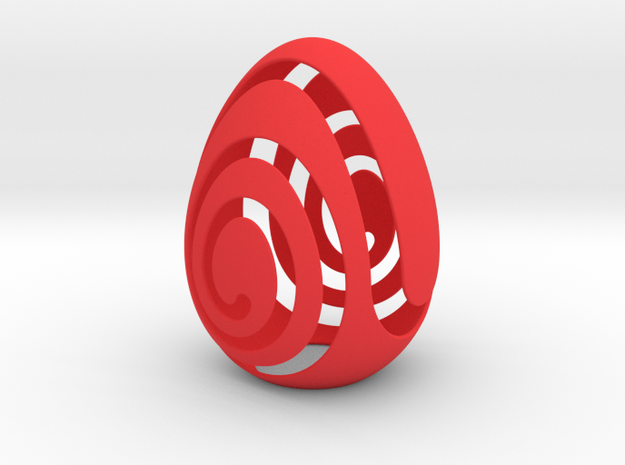 EggShell in Red Processed Versatile Plastic