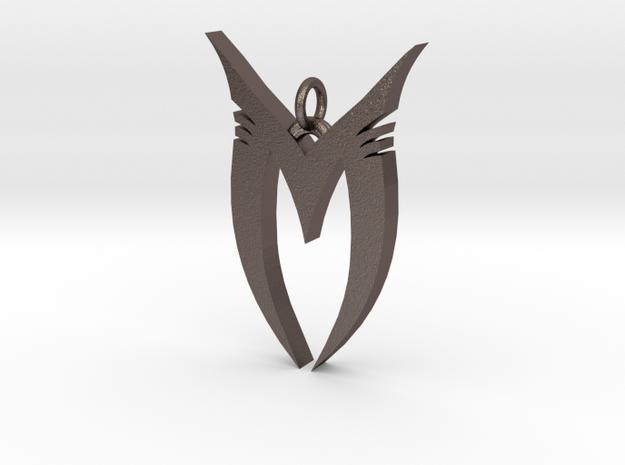 "Pendentif Bionicle - ""M"" (Makuta) in Polished Bronzed Silver Steel"