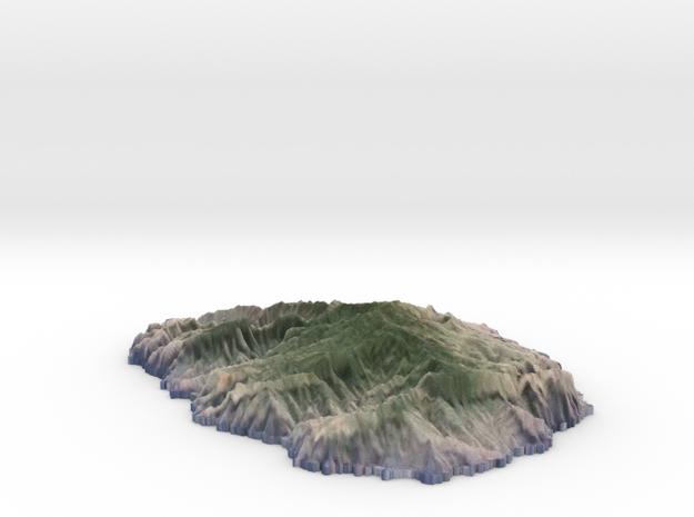 La Gomera, textured 3d printed