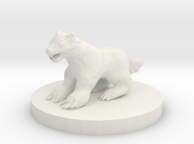Wolverine Miniature in White Strong & Flexible