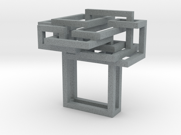 Open SquareRing size 8 3d printed