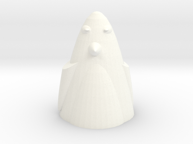 The Penguin in White Processed Versatile Plastic