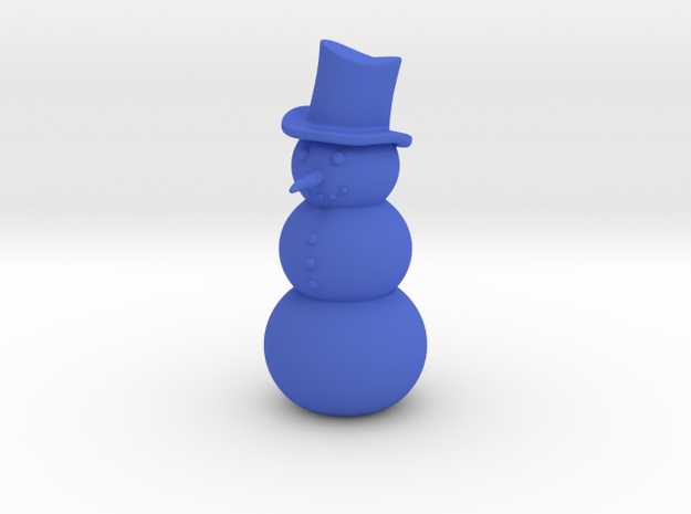 Snowman, Standing in Blue Strong & Flexible Polished