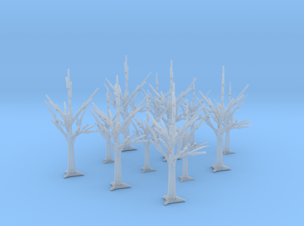 12 Trees in Smooth Fine Detail Plastic