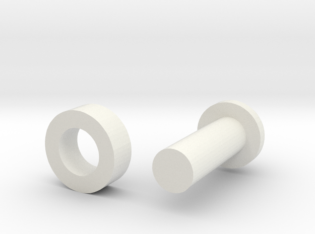 Combo PIN in White Natural Versatile Plastic
