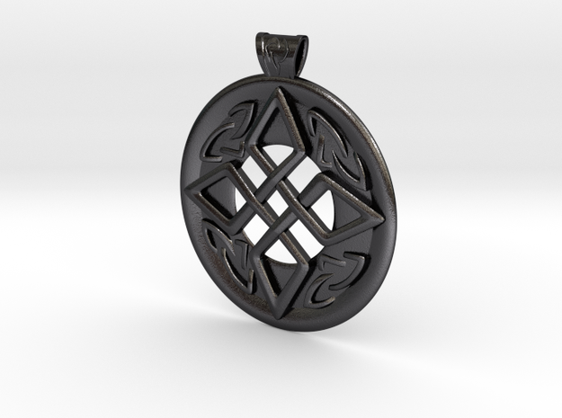 Celtic pendant in Polished and Bronzed Black Steel