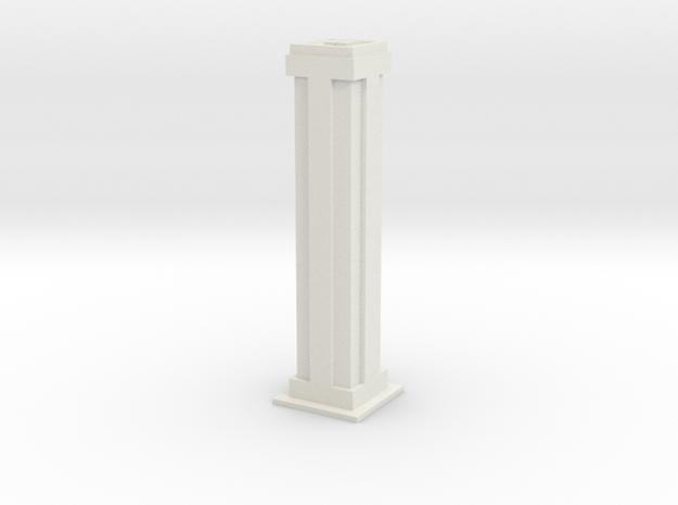 Tower Block 2 in White Natural Versatile Plastic