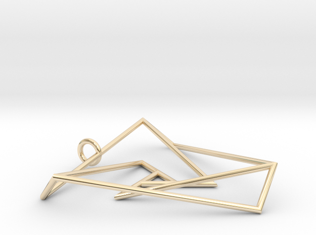 Impossible triangle pendant with a twist 3d printed