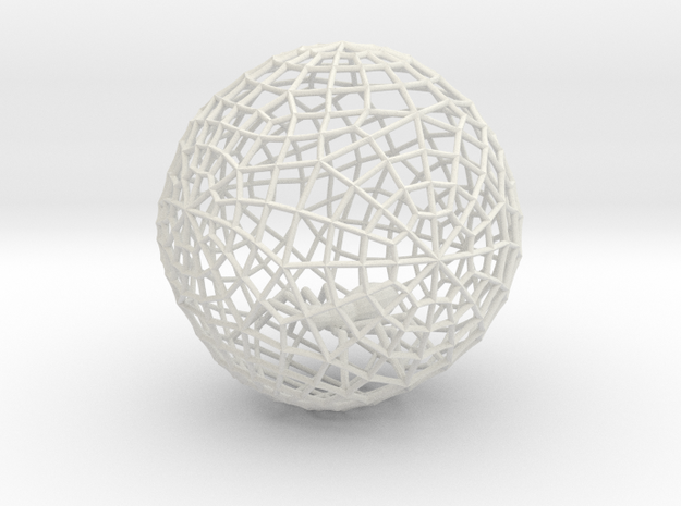 Bauble, Ball, Spider in Web in White Natural Versatile Plastic